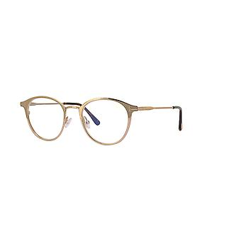 Tom Ford TF5528-B 029 Shiny Rose Gold-Blue Filter