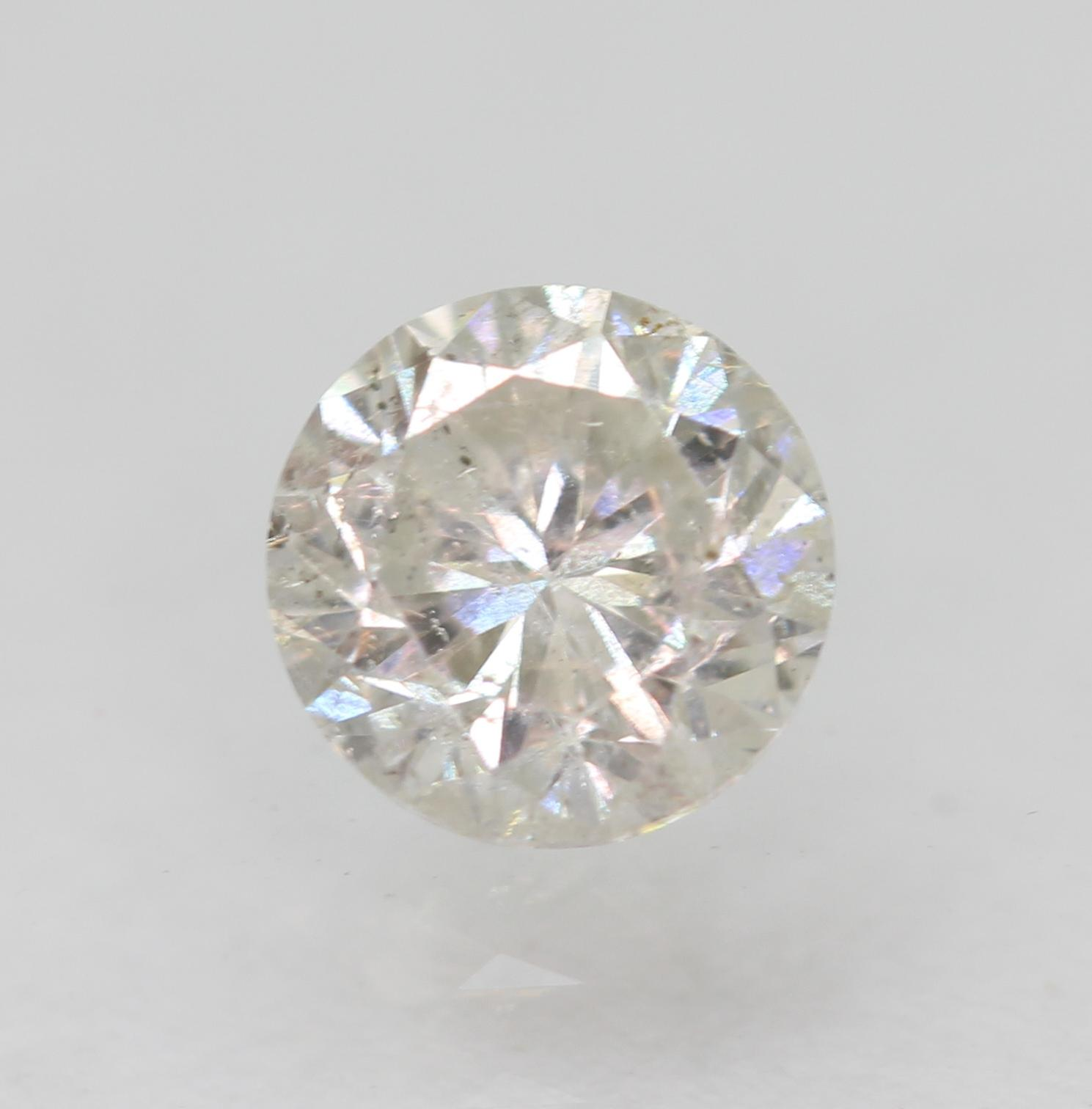Certified 0.51 Carat G SI1 Round Brilliant Enhanced Natural Loose Diamond 4.88mm