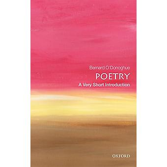 Poetry A Very Short Introduction by Bernard ODonoghue