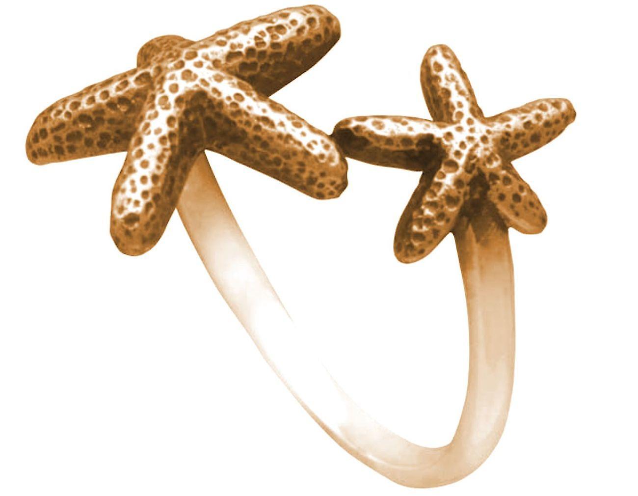 Gemshine Maritim Nautics Ring Seestern Ring in 925 Silber, vergoldet oder rose