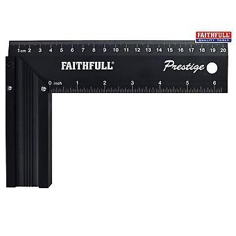 Faithfull Prestige Try Square Black Aluminium 200mm