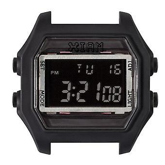 Watch I Am The Watch IAM-111 - Black Appearance Gum Black Buttons / Horn 20 mm Set