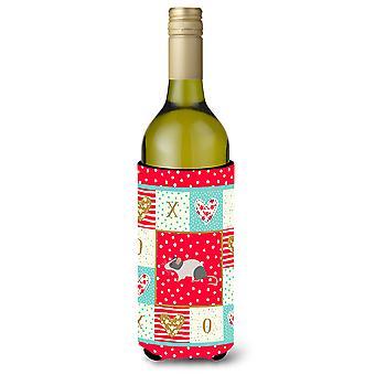 Carolines Treasures  CK5451LITERK Japanese Mouse Love Wine Bottle Hugger