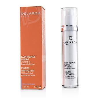 DELAROM Hydrating Purifying Fluid - For Combination to Oily Skin (Unboxed) 50ml/1.7oz