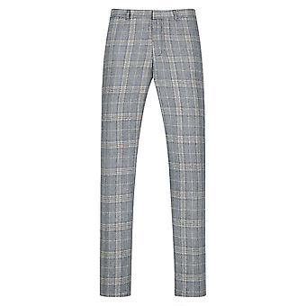 Allthemen Men's Pantaloni Fit Suit Plaid Pantaloni Casual stampati