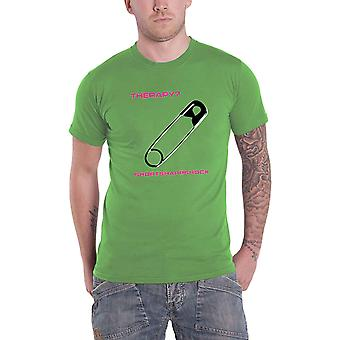 Therapy T Shirt Shortsharpshock Band Logo new Official Mens Green