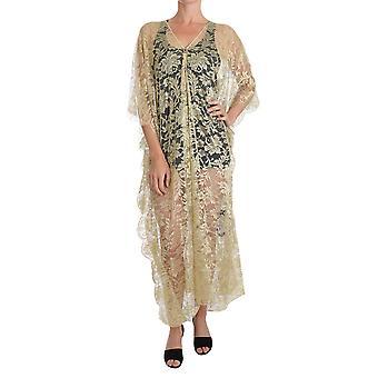 Rochie de cape Dolce & Gabbana Gold Floral Din Dantelă