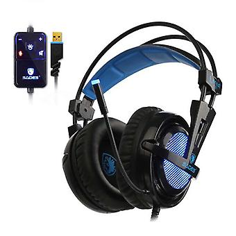 SADES Locust Plus 7.1 Surround Gaming Headphones Headset Headphones with Microphone