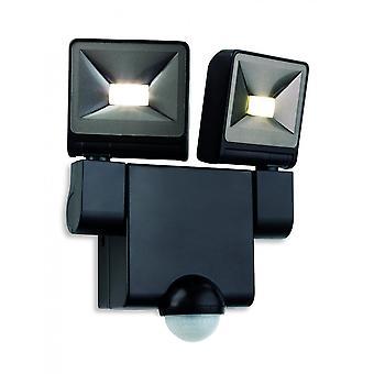 Firstlight Showcase LED Wall Light With PIR, Black
