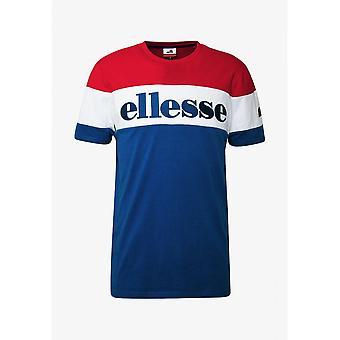 Ellesse Punto Niebieski/czerwony Bawełniany T-shirt
