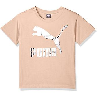 PUMA Little Girls' Archive Lifestyle Tee, Pearl, 6