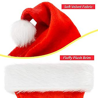 Christmas Hat, Santa Hat, Xmas Holiday Hat for Adults, Unisex, Red, Size Adult