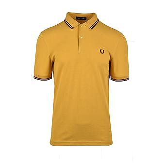 Fred Perry Twin Tipped Polo Shirt Gold