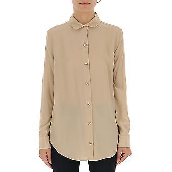Equipment 193q23e900mistyrose Women's Beige Silk Shirt