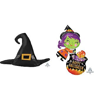 Anagram Supershape Halloween Witch Foil Balloon