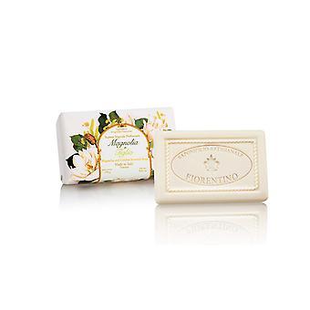 Saponificio Artigianale Fiorentino Handmade Soap - Magnolia & Amp; Linde - lovingly wrapped in gift wrapping paper 250 g