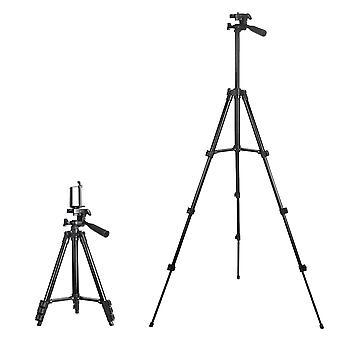 Insma 4 secties statief camera staan telefoonhouder staan met telefoonclip 360 graden rotatie voor camera smartphone