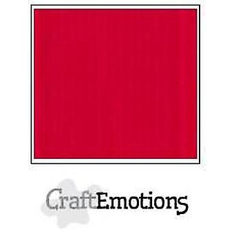 CraftEmotions linen cardboard 10 Sh scarlet 30,0x30,0cm / LC-66