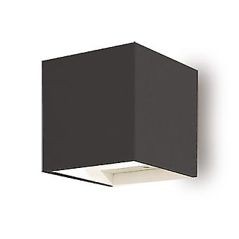 Led seinävalaisin Payuna 2x3W 3000K keilakulma 90° IP54 tummanharmaa 10806