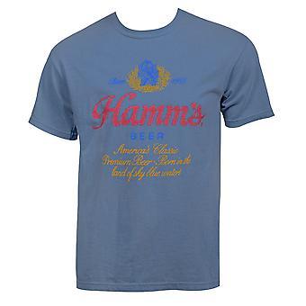 Hamm's Μπύρα Λογότυπο Vintage Ένδυμα Πλύσιμο T-Shirt