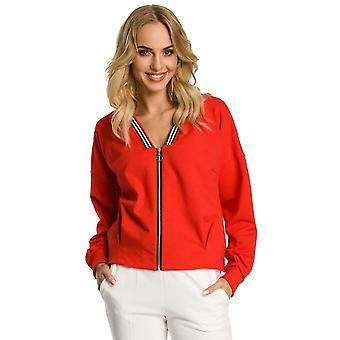Red moe jackets & coats