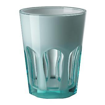 Mario Luca Giusti Set van 6 Double Face Plastic Cups Turquoise
