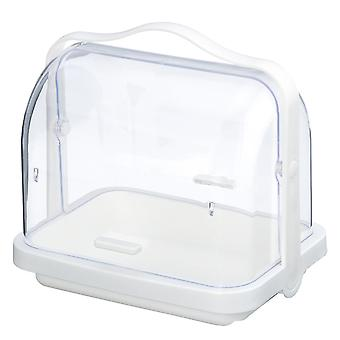 Folding multifunctional portable storage box white 25.4x19.4x24.3cm