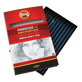 Koh-I-Noor Progresso Graphite Crayon 6B