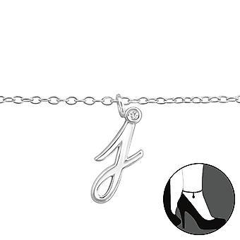 """""""j"""" - 925 sterlinghopea nilkkakoruissa - W36605x"""