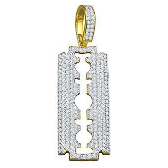 925 sterlin gümüş mikro Pave kolye - jilet altın