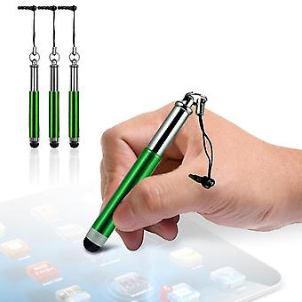Samsung Galaxy M31 vihreä kapasitiivinen sisäänvedettävä kosketusnäyttö kynät 3 kpl