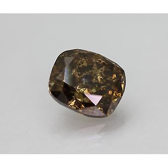 معتمد 3.20 قيراط يتوهم وسادة البني حية وسادة الطبيعية الماس فضفاضة 8.97x7.93mm