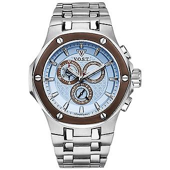 V.O.S.T. Germany V100.021 Blue Chrono men's watch 44mm