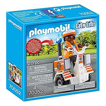 Playset City Life Emergency Balance Racer Playmobil 70052 (20 pcs)