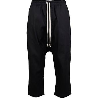 Rick Owens Drk Shdw Drawstring Cropped Trousers