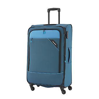 travelite Derby Modell 2018 Trolley M, 4 Rollen, 66 cm, 69  L, Blau