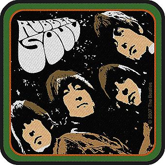 The Beatles Patch Rubber Soul Album Band Logo new Official Woven Iron 10x10 cm
