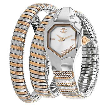 Just Cavalli Women's Glam Snake Silver Dial Watch - JC1l112M0055