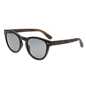 Earth Wood Copacabana Polarized Sunglasses - Espresso/Black