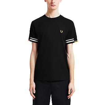 Fred Perry Men's Abstract Cuff T-Shirt Regular Fit