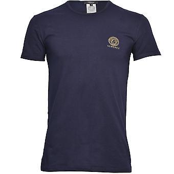 Versace CIconic Koszulka z dekoltem w serek, ciemnoniebieski