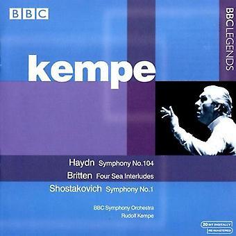 J. Haydn - Haydn: Symphony No. 104; Britten: Four Sea Interludes; Shostakovich: Symphony No. 1 [CD] USA import
