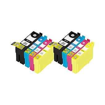 RudyTwos 2x Replacement for Epson 35XL (Padlock) Set Ink Unit Black Cyan Magenta & Yellow Compatible with WorkForce Pro WF-4720DWF, WF-4725DWF, WF-4730DTWF, WF-4730DWF, WF-4740DTWF, WF-4740DWF