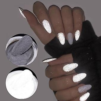 Reflective Fluorescent Nail Glitter Powder- Shiny Dust Glow In The Dark For Bar