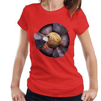 Erdnüsse Snoopy Astronaut Space Hintergrund Frauen's T-Shirt