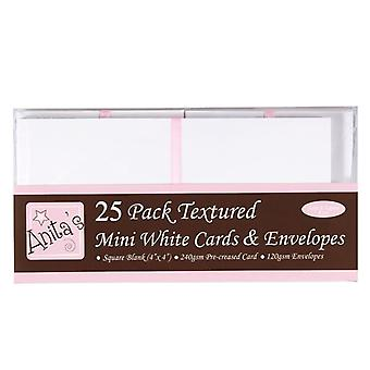 بطاقات أنيتا&4 بوصة مغلفات بيضاء (25pk) (ANT 1515000)