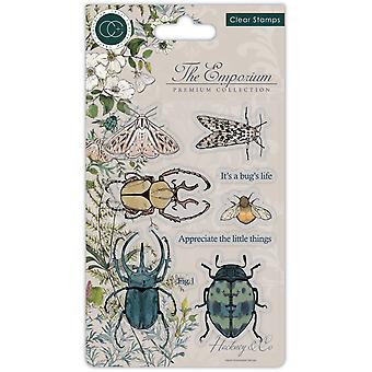 Craft Consortium The Emporium Beetles Clear Stamps
