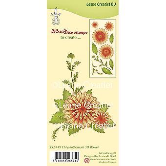 Leane Creatief Chrysanthemum Clear Stamp