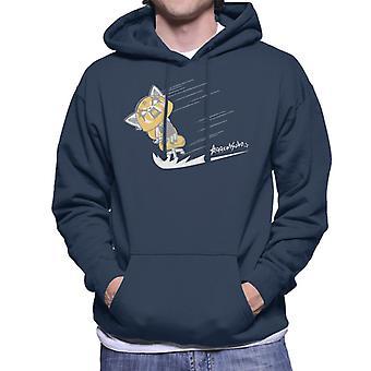 Aggretsuko Retsuko Scream Sketch Design Men's Hooded Sweatshirt