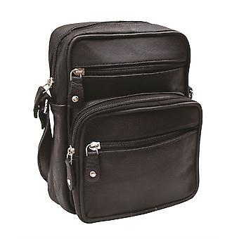 Primehide Ranger Upcycled Leather Crossbody Shoulder Bag - Tablet Bag - 1456